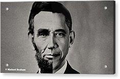 President Obama Meets President Lincoln Acrylic Print