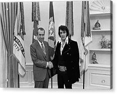 President Richard Nixon And Elvis Acrylic Print by Everett