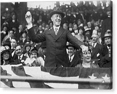 President Wilson Opens Season Acrylic Print by Underwood Archives
