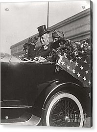 Acrylic Print featuring the photograph President Woodrow Wilson 1919 by Martin Konopacki Restoration