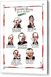 Presidential Allergies Through The Ages: Acrylic Print by Barry Blitt