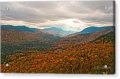 Presidential Range In Autumn Watercolor Acrylic Print by Brenda Jacobs