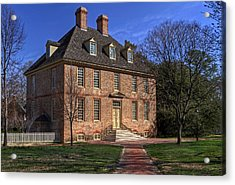Acrylic Print featuring the photograph President's House College Of William And Mary by Jerry Gammon