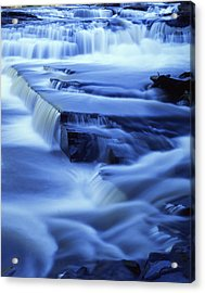 Presque Isle Falls Acrylic Print by Ray Mathis