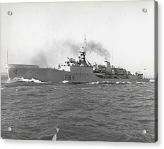 Press Visit To H. M. S. Exmouth The Royal Navy's First Acrylic Print by Retro Images Archive