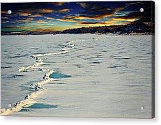 Pressure Ridge On Lake Sakakawea Acrylic Print