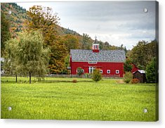 Prettiest Barn In Vermont Acrylic Print