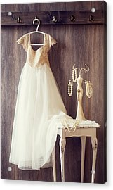 Pretty Dress Acrylic Print by Amanda Elwell