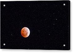 Pretty Face On A Blood Moon Acrylic Print
