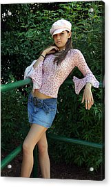 Pretty Girl Standing Acrylic Print by Joseph C Hinson Photography