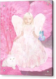 Pretty In Pink Acrylic Print by Amelia Carrie