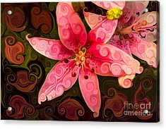 Acrylic Print featuring the painting Pretty In Pink by Omaste Witkowski