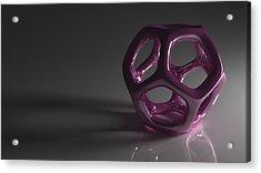 Pretty In Purple Acrylic Print by Troy Harris
