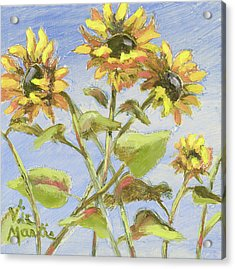 Acrylic Print featuring the painting Pretty In Yellow II by Vic  Mastis