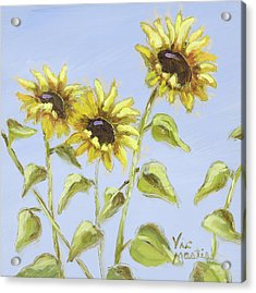 Acrylic Print featuring the painting Pretty In Yellow by Vic  Mastis