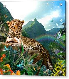Pretty Jaguar Acrylic Print