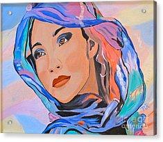 Pretty Lady Acrylic Print by Phyllis Kaltenbach