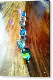 Pretty Marbles All In A Row Acrylic Print