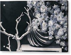 Pretty Pansy Still Life Acrylic Print by Tom Mc Nemar