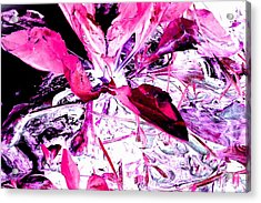 Acrylic Print featuring the photograph Pretty Pink Weeds 5 by Marianne Dow