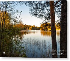 Pretty Spring Evening At The Lake Acrylic Print