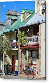 Pretty Terrace Houses In Sydney - Australia Acrylic Print