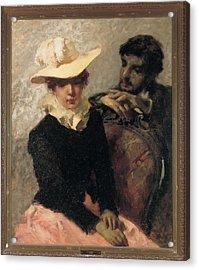 Previati Gaetano, Aurora The Painter Acrylic Print by Everett