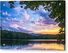 Price Lake Sunset Acrylic Print