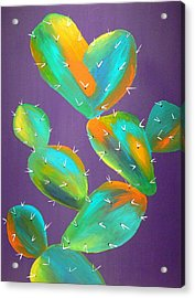 Prickly Pear Abstract Acrylic Print