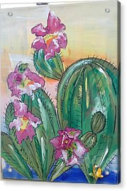 Prickly Pear Acrylic Print by Karen Carnow