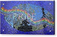 Pride Acrylic Print by Alison Edwards
