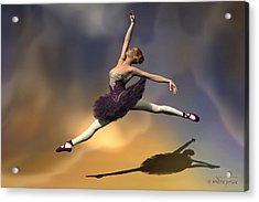 Prima Ballerina Georgia Grand Jete Pose Acrylic Print by Andre Price