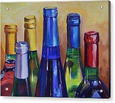 Primarily Wine Acrylic Print by Donna Tuten