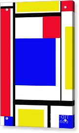Primary Abstract Motivational Acrylic Print by Tom Gari Gallery-Three-Photography