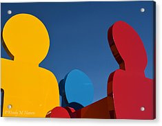 Primary Colors 2 Acrylic Print by Wendy Hansen-Penman