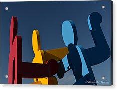 Primary Colors Acrylic Print by Wendy Hansen-Penman
