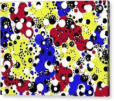 Primary Speck Acrylic Print