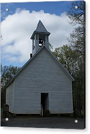 Primative Baptist Church In Cades Cove Acrylic Print by Roger Potts