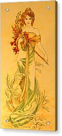 Primavera After Mucha Acrylic Print