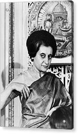 Prime Minister Indira Gandhi Acrylic Print by Warren Leffler