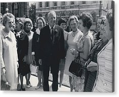 Prime Minister Meets Conservative Women M. P ��s Acrylic Print by Retro Images Archive