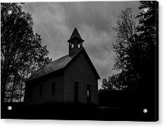 Primitive Church Acrylic Print by Sherri Duncan