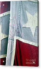 Acrylic Print featuring the photograph Primitive Flag by Valerie Reeves