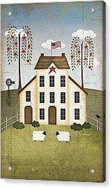 Primitive House Acrylic Print by Jennifer Pugh