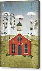 Primitive School Acrylic Print by Jennifer Pugh