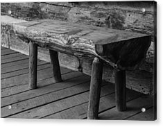 Acrylic Print featuring the photograph Primitive Wooden Bench by Robert Hebert