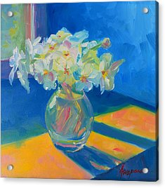 Primroses In Spring Light - Still Life Acrylic Print