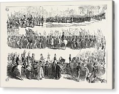 Prince Alberts Visit To Liverpool The Great Procession Acrylic Print