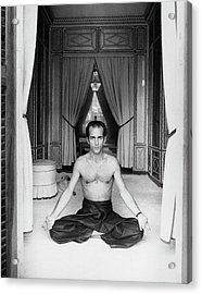 Prince Alessandro Ruspoli Doing Yoga Acrylic Print