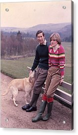 Prince Charles And Lady Diana Acrylic Print by Retro Images Archive